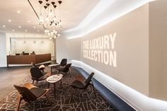 Translucent Corian wall panels for Starwood Hotels.