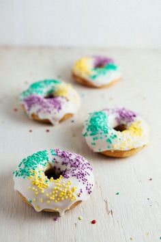 King Cake Donuts (for Mardi Gras!)