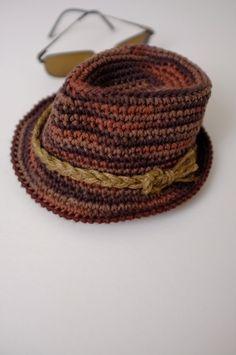 Baby Fedora Hat Newborn Crochet Fedora Photography by milazshop Trilby Hat e3a9eb5fa925