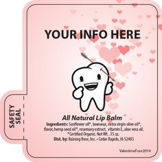 Customizable Valentine Lip Balm Templates!