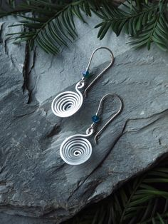 aluminum earrings aluminum spiral earrings by HandmadeEarringsUk