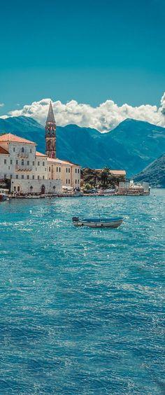 At the Kotor Bay in Montenegro.