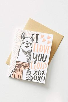LOL! Llamas are my favorite and this card is hysterical AND adorable! A perfect valentines day card. #ad #valentinesday #valentinesdaygift #llama #anthropologie #celebratetheeveryday