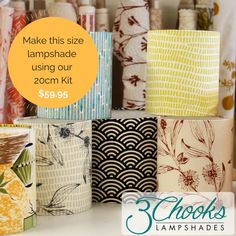Learn how to make lampshades with this fun and easy kit. Available in a range of sizes - create table lamps, bedside lamps, hanging pendants. Happy Design, Good Notes, Hanging Pendants, Green Print, Do You Need, Tea Tree Oil, Thank You Gifts, Surface Pattern, Lampshades