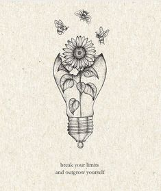 Sunflower Tattoos, Pretty Quotes, Pretty Words, Wall Art Quotes, Quote Aesthetic, Future Tattoos, Quote Prints, Belle Photo, Tattoo Inspiration