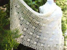 Items similar to crochet shawl, hand knit shawl, Ivory mohair shawl, Holiday Accessories, wraps… Knitted Shawls, Crochet Shawl, Crochet Yarn, Crochet Wraps, Irish Crochet, Baby Boy Crochet Blanket, Crochet Baby Hats, Handmade Gifts For Her, Handmade Art
