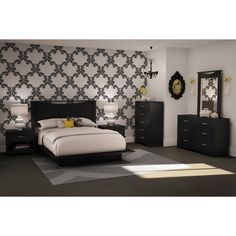 This Modern 5-Drawer Bedroom Chest in Black Wood Finish of bedroom furniture, provides storage for jeans, shirts, socks, and undergarments in its five drawers. A great addition to a small room, the chest also can be paired with the matching collection double dresser for more extensive storage. with its clean lines and simple design, the sleek chest of drawers blends well in modern and transitional bedrooms. The certified Environmentally Preferred Product (EPP) chest is crafted out of…
