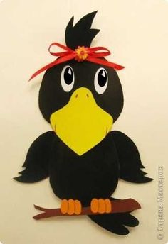crow craft idea      Crafts and Worksheets for Preschool,Toddler and Kindergarten