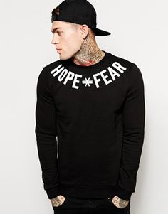 ASOS Sweatshirt With Hope Fear Print