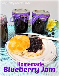 Canning- How to Make Homemade Blueberry Jam! Simple Canning- How to Make Homemade Blueberry Jam! Easy recipe & step x step picture tutorial !Simple Canning- How to Make Homemade Blueberry Jam! Easy recipe & step x step picture tutorial ! Blueberry Jelly, Blueberry Season, Chutney, Homemade Jelly, Homemade Recipe, Jam And Jelly, Jelly Recipes, Drink Recipes, Healthy Foods