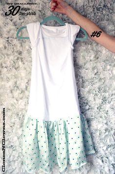 DIY tee-shirt into dress