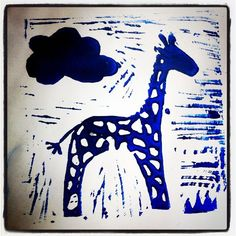 Lino Printing from Talia at Number19  #print #lino #kids #paint #craft