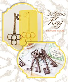chocolate keys!! so cute... could definitely find something fun to use these for at a wedding... ;)