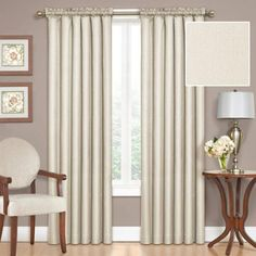 Eclipse Samara Blackout Energy-Efficient Thermal Curtain Panel - Walmart.com CONSIDER THE TOPEE COLOUR FOR A CREAM WALL