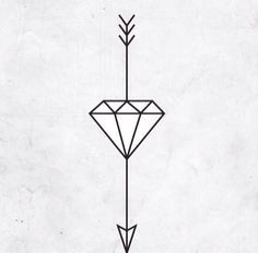 """A diamond stands for """"unbreakable"""" while the arrow represents how that hard times always lead you to great things. So excited to get this."""