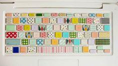 Items similar to Washi Tape - Masking Tape - Japanese Washi - Deco Tape - Gift Wrap - Filofax - on Etsy Washi Tape Keyboard, Washi Tapes, Keyboard Stickers, Cinta Washi Tape, Mt Masking Tape, Mt Tape, Do It Yourself Inspiration, Diy Inspiration, Workspace Inspiration