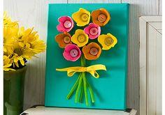 Craft Painting - Egg Carton Flower Canvas!