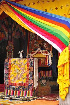 Throne in Punakha Dzong, Bhutan