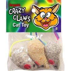 Sergeants 49957 Crazy ClawsTM Mice Catnip Toy Assorted Styles 3 Count * Check this awesome product by going to the link at the image.(This is an Amazon affiliate link and I receive a commission for the sales)