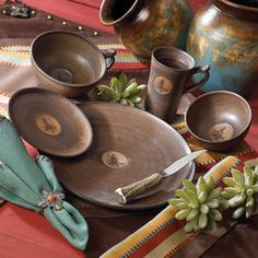 Chocolate Tree Dinnerware Crowu0027s Nest Trading Co. & rustic dinnerware sets clearance | ... » Rustic Cabin u0026 Lodge ...