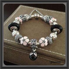 Tendance Bracelets  PANDORA Bracelet with Pretty Pink and Black.  Tendance &…