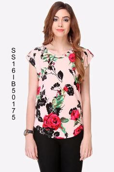 #VYOMINI - #FashionForTheBeautifulIndianGirl #MakeInIndia #OnlineShopping #Discounts #Women #Style #EthnicWear #OOTD #summer2016 #Western #Top #Casual #Saturday #Floral #Print Only Rs 836/, get Rs 220/ #CashBack,   ☎+91-9810188757 / +91-9811438585