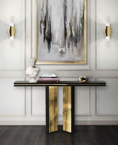 The best handmade techniques find balance in a delicate work in wood softened with touches of brass that reflect warm and golden tones on its polished surface. An impressive display of elegance, Beyond console shows the exquisite capacity to fill a variety of ambiances thanks to its luxury presence.