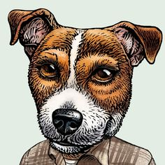 Jack Russell Kerouac signed print by ChetArt on Etsy, $18.00