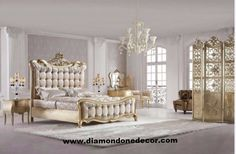 """""""Charlene"""" Luxury French Reproduction Baroque Bed"""