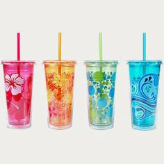 Make life easier (and less thirsty) for whoever is driving on your next roadtrip by bringing along straw-topped cups!