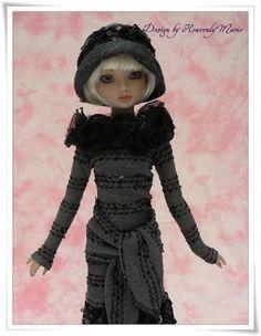 Tonner Ellowyne Lizette Amber OOAK Gray One Piece Dress Set by Heavenlymarie | eBay. Sold 9/22/13 for $49.88.