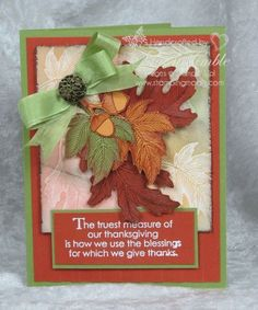 ... Cards, Diy Fashion, Stampin Up, Stamps Sets, Thanksgiving Cards