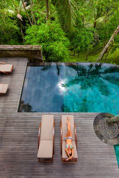 COMO Shambhala Estate is a residential health retreat in Bali, Indonesia. COMO Shambhala Estate is a private estate located amidst the serenity of Bali's Dream Pools, Outdoor Living, Outdoor Decor, Outdoor Pool, Rooftop Pool, Outdoor Lounge, Pool Designs, Backyard Designs, Water Features