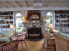 """Designer Libby Cameron's Maine cottage is """" perfect """"!     Classic, understated and full of family treasures, this cottage would make any M..."""