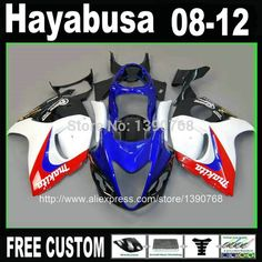 (405.00$)  Buy here  - 7 Free gifts Injection mold fairing kit for SUZUKI Hayabusa fairings GSXR1300 2008-2014 blue white black  set  08-14 Vg2