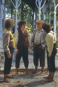 la comunidad del anillo - hobbits en Rivendel