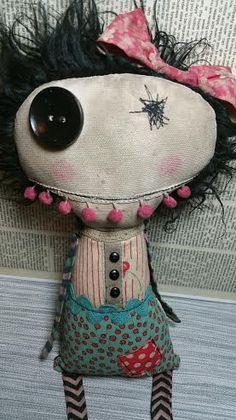 Jenny Handmade Art Doll by SewZany on Etsy