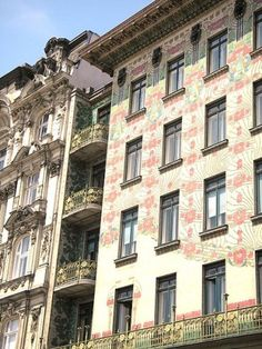 Apartment building in Vienna.  Architect: Otto Wagner