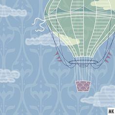 """Zum #detaildienstag hier ein Ausschnitt meines Beitrags für die nächste @Spoonflowerde Tapeten-Designchallenge. Mein """"Quiet Space"""" sind leise schwebende Heißluftballons auf einem Jugendstilmuster. Am Donnerstag startet die Abstimmung! . A little preview for this week's @Spoonflower Designchallenge themed """"Quiet Spaces"""". They ask for a wallpaper design and suggest adding some art deco vibes, I went for floating hot-air-balloons. Voting starts Thursday! . . . . . #spoonflower #spoonflowerde… Michaela, Floating, Spoonflower, Art Deco, Instagram, Hot, Artwork, Design, Thursday"""