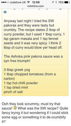 Slimming world syn free pakora sauce                                                                                           More