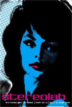 pop art... Stereolab concert poster
