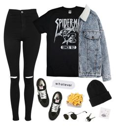 """""""'Cause I Loved This Look"""" by shoftie ❤ liked on Polyvore featuring Topshop, Marvel, Vans and BOY London"""