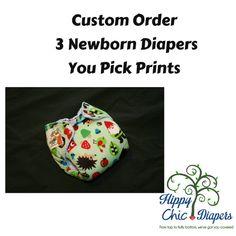 Design Your Own Newborn AI2 Set of Three by HippyChicThreads