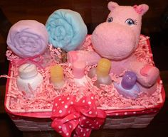 Baby basket-how freakin cute is this idea?!