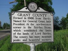 route 50 west virginia | Historical Marker - Rt 50 westbound entering Grant Co.
