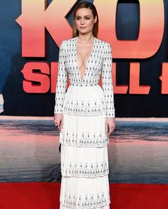 Wow moment: Brie Larson smouldered in this sleek @ralphandrusso look at the London premiere of Kong: Skull Island  Getty Images  via INSTYLE AUSTRALIA MAGAZINE OFFICIAL INSTAGRAM - Fashion Campaigns  Haute Couture  Advertising  Editorial Photography  Magazine Cover Designs  Supermodels  Runway Models