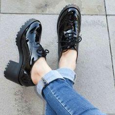 Oxford com salto tratorado para um look ultra fashion. www.supimpacalcados.com.br Em até ...