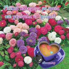 Εικόνες Τοπ:Όλη η ομορφιά χρωμάτων σε μια καλημέρα.! - eikones top Good Morning Good Night, Mom, Greek, Mothers