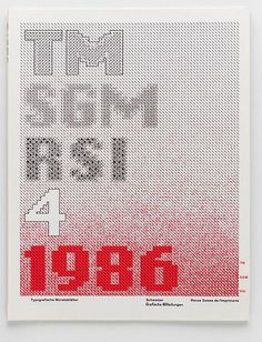 Swiss Print Review magazine, 1986 design by Wolfgang Weingart