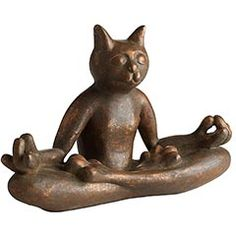 You can never go wrong, with a Yoga cat! (mew) - Ceramic Copper Yoga Cat